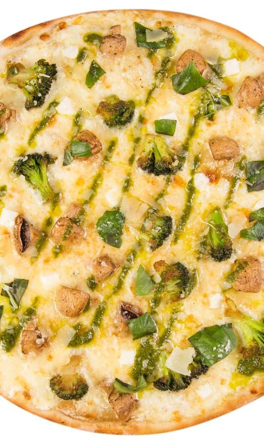 изолированная белизна пиццы стоковое фото