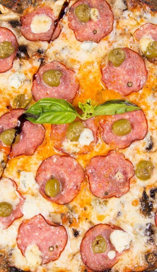 изолированная белизна пиццы стоковые изображения rf