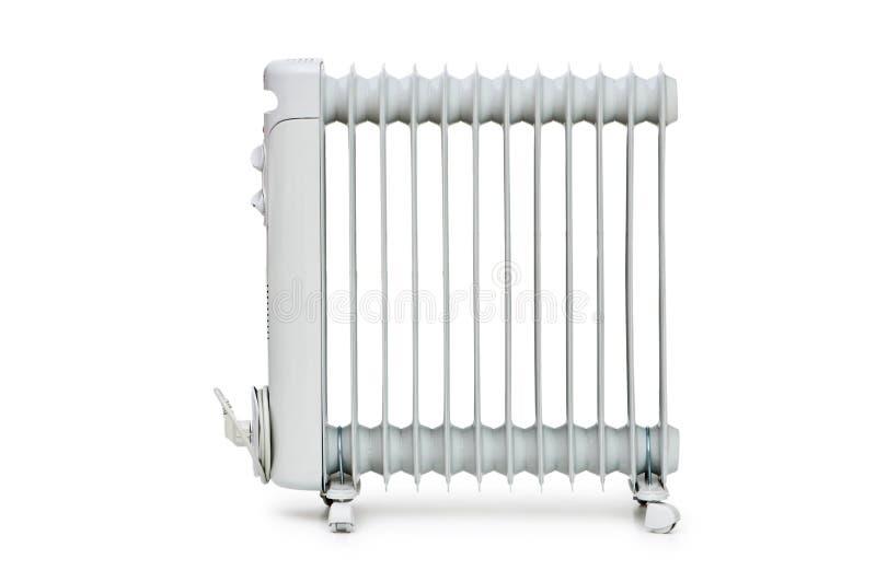 изолированная белизна радиатора масла стоковое фото rf
