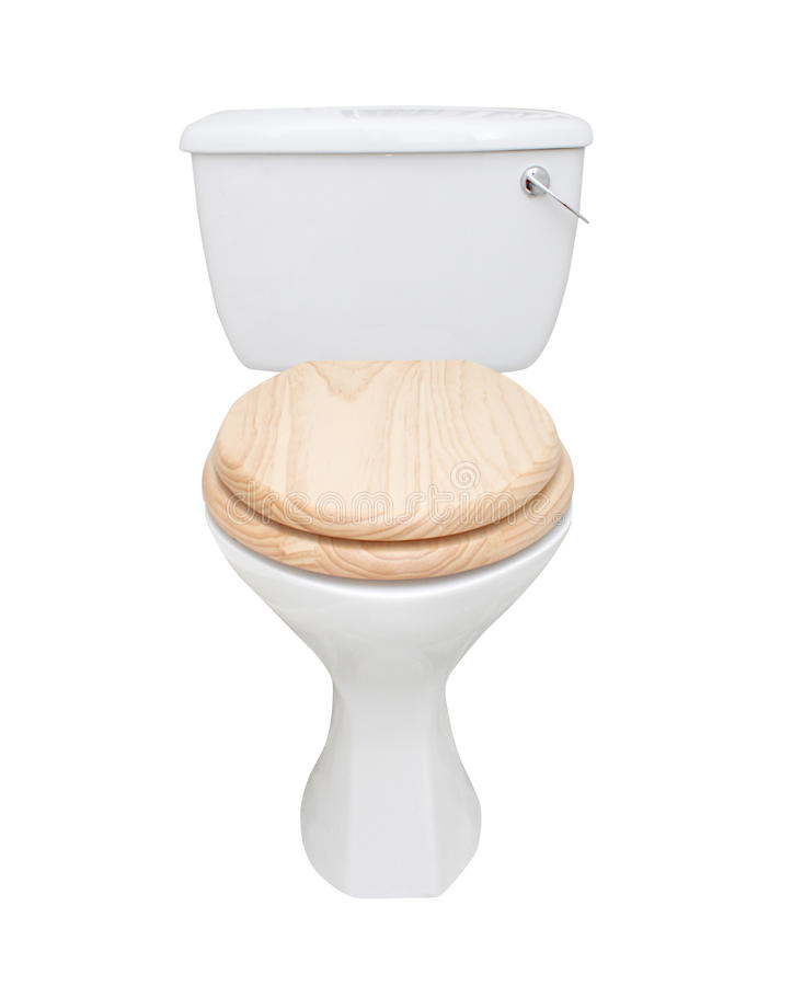 изолированная белизна туалета стоковое изображение