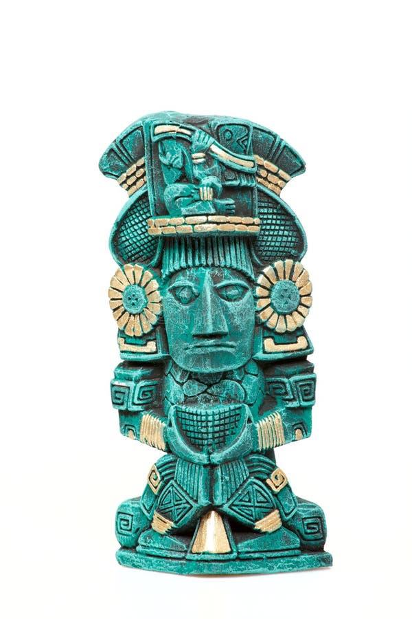 изолированная богом майяская статуя Мексики стоковые фото