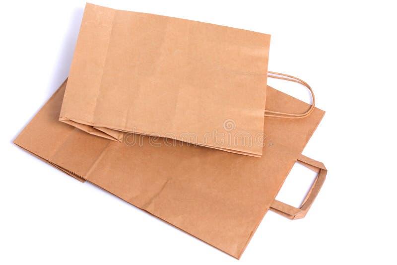 Изолированная бумага пакета стоковое изображение