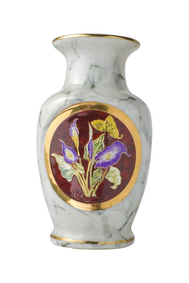 изолированная ваза японии стоковое фото rf
