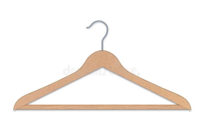 Изолированная вешалка одежд иллюстрация вектора