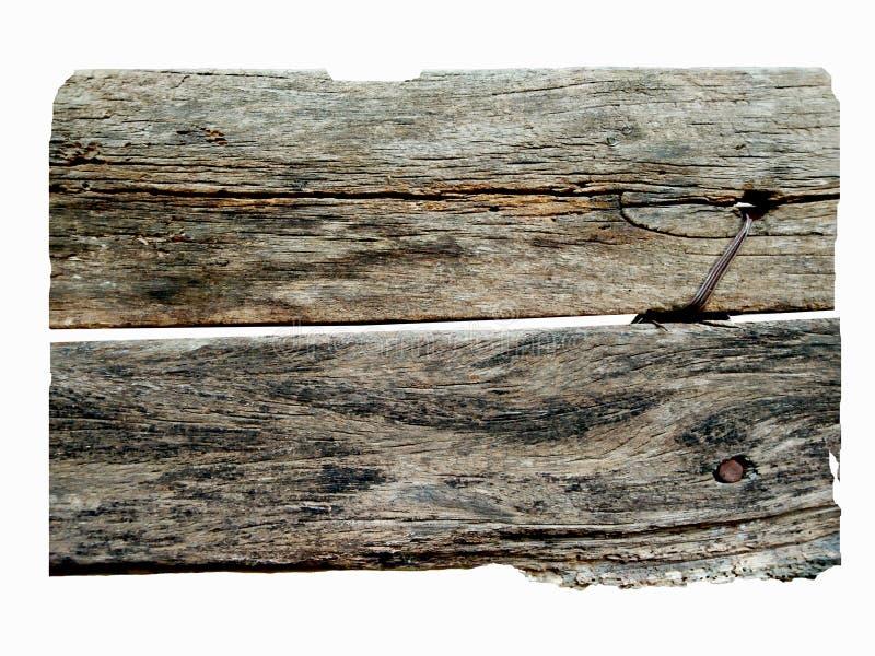 Изолированная винтажная деревянная доска стоковое изображение rf