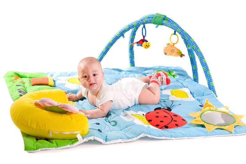 изолированная гимнастика младенца стоковая фотография rf