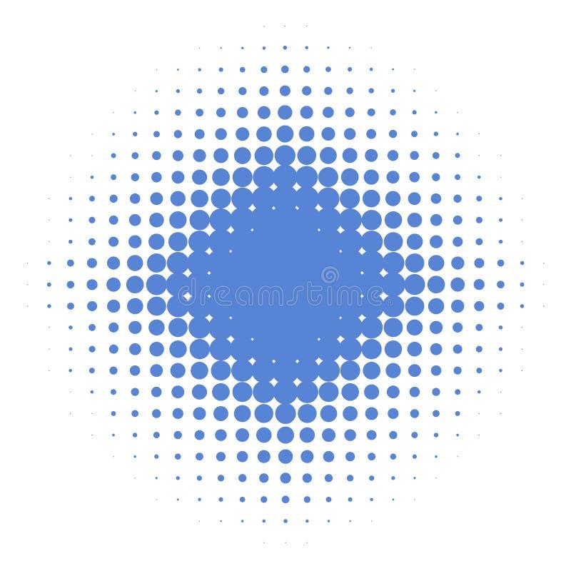 Изолированная голубая звезда с точками градиента бесплатная иллюстрация