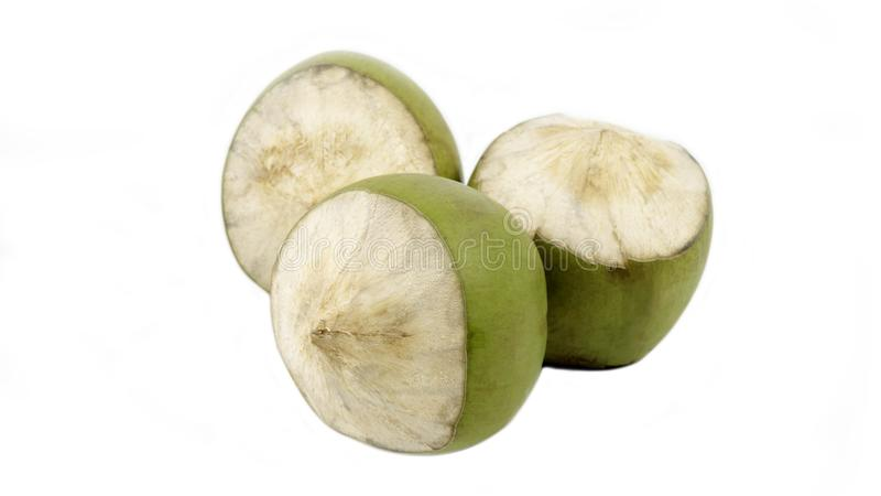 Изолированная группа в составе зеленый кокос стоковые фото