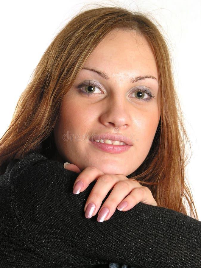 изолированная девушка стороны стоковые фото
