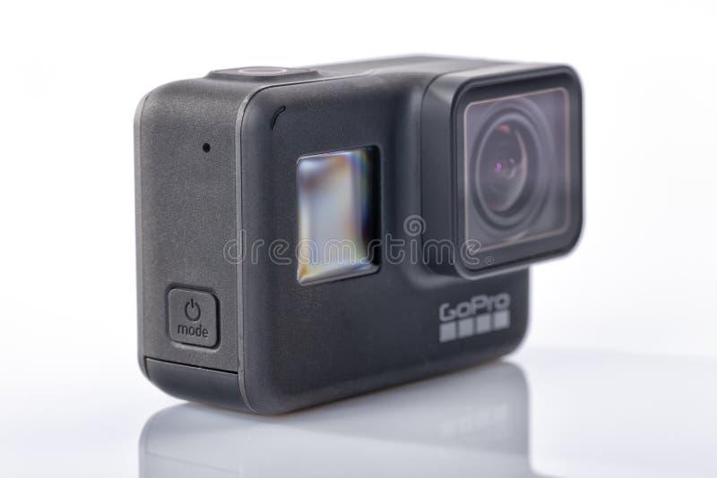 Изолированная деталь новое черного героя 7 GoPro стоковая фотография rf