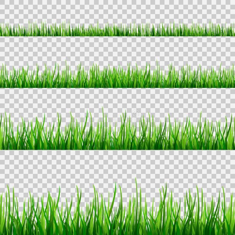 Изолированная диаграмма поля травы безшовная на белом векторе бесплатная иллюстрация