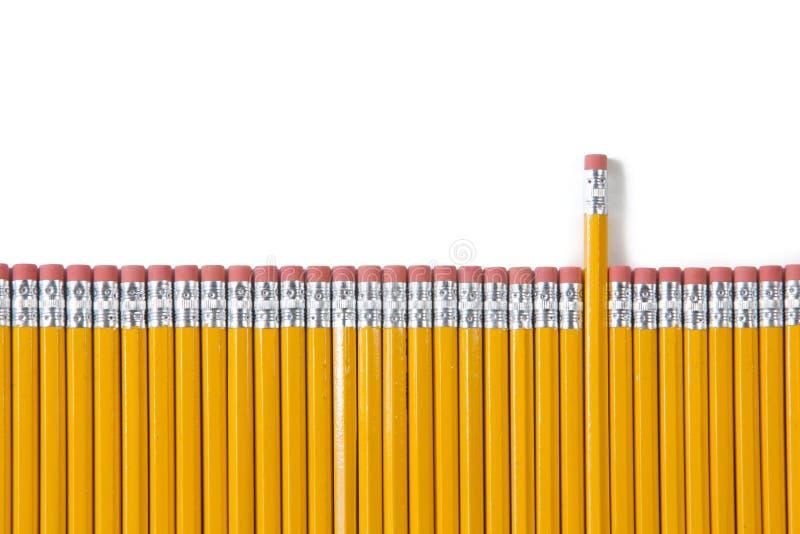 изолированная диаграммой белизна карандаша стоковое изображение rf