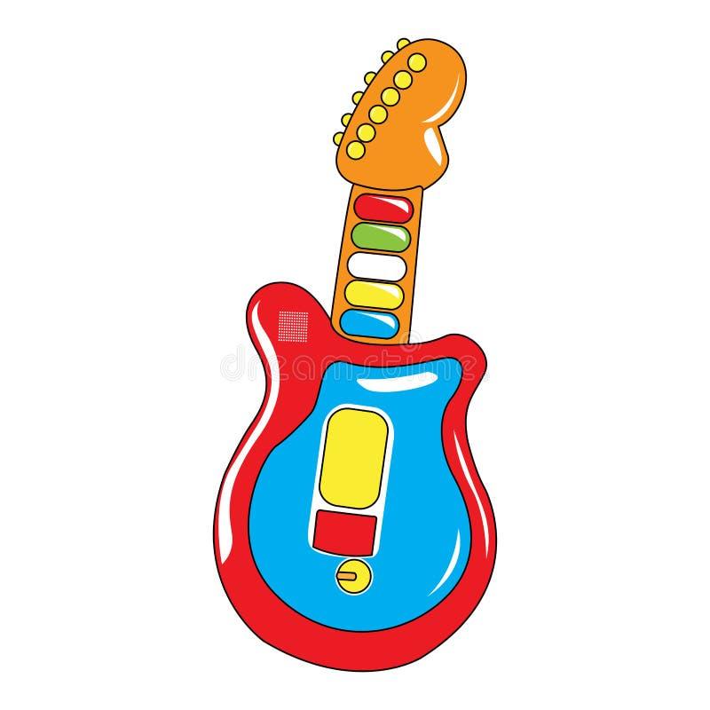 Изолированная игрушка гитары иллюстрация штока
