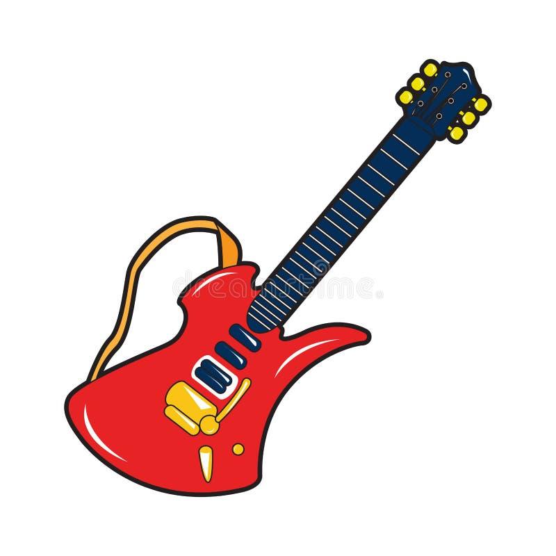 Изолированная игрушка гитары иллюстрация вектора