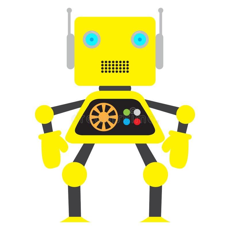 Изолированная игрушка робота - вектор бесплатная иллюстрация