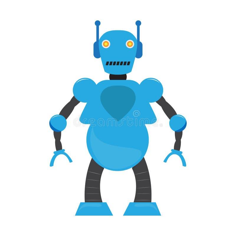Изолированная игрушка робота - вектор иллюстрация штока
