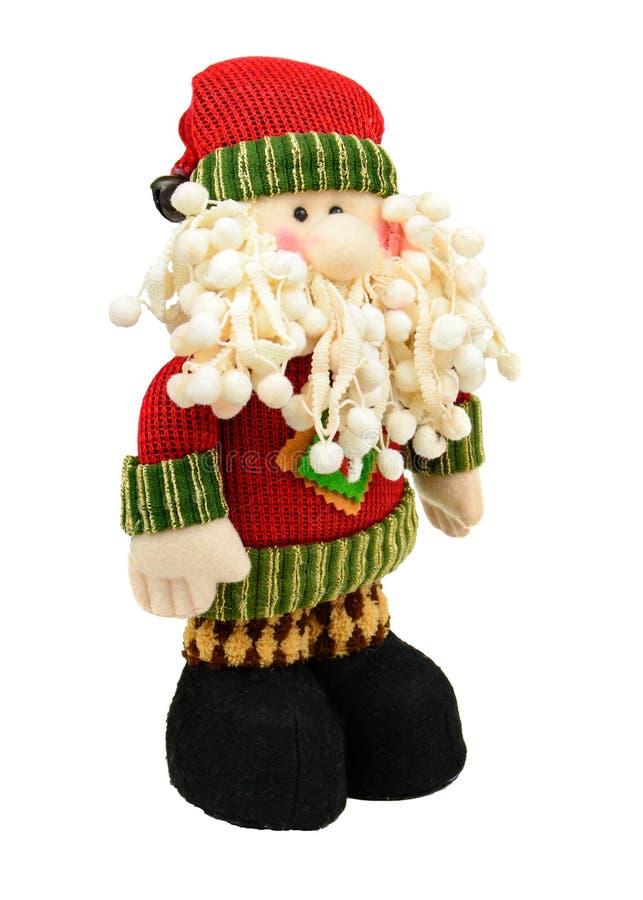 Изолированная игрушка Санта Klaus на белой предпосылке стоковое фото rf