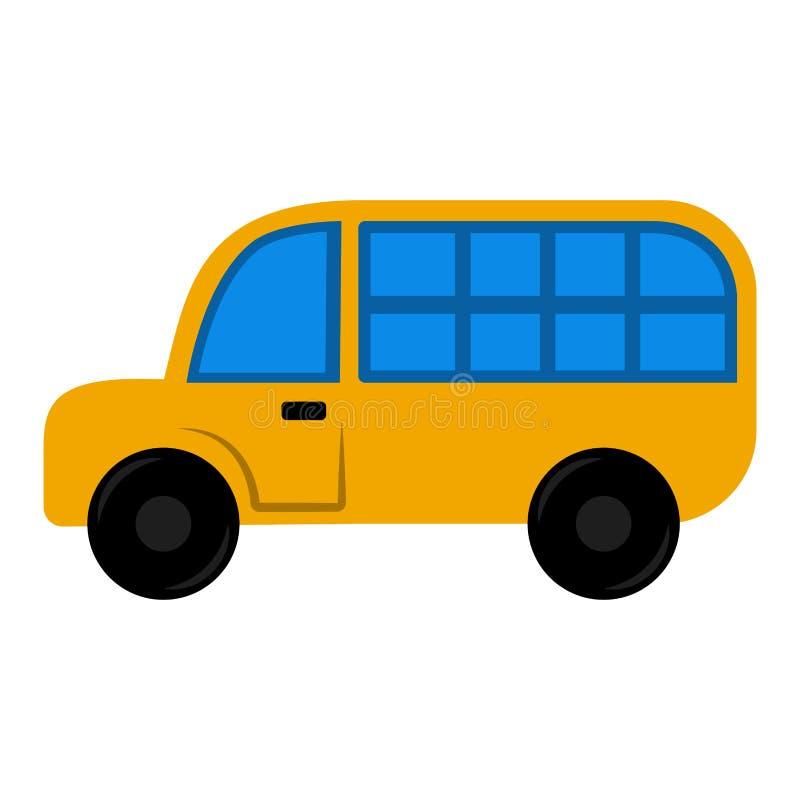 Изолированная игрушка школьного автобуса для детей иллюстрация штока