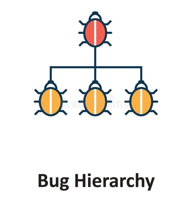 Изолированная иерархия черепашки и значок вектора для технологии иллюстрация вектора