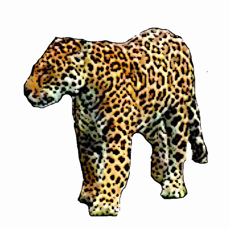 Изолированная иллюстрация большой кошки леопарда стоковые фотографии rf