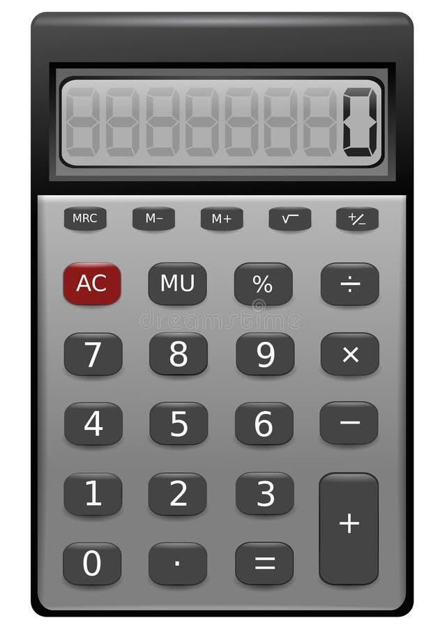 Изолированная иллюстрация калькулятора реалистическая иллюстрация вектора