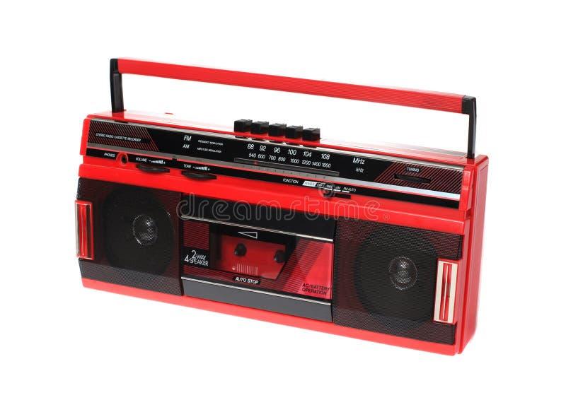 изолированная кассетой белизна радио красная стоковое фото rf
