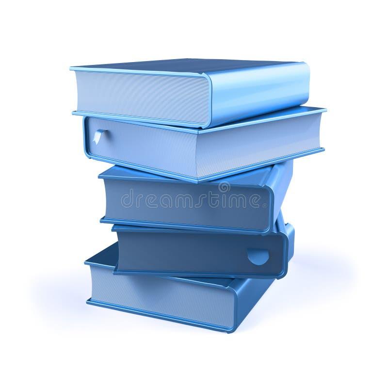 5 изолированная книга стога голубых книг 5 бесплатная иллюстрация