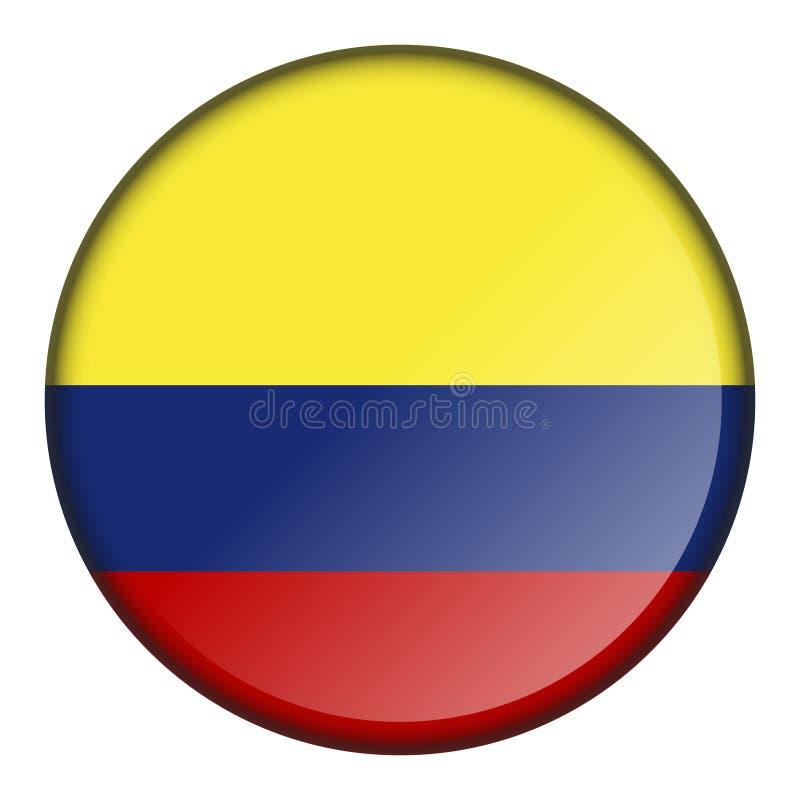 Изолированная кнопка флага иллюстрация вектора