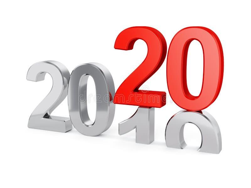 Изолированная концепция 2020 Новых Годов иллюстрация штока