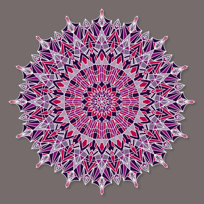Изолированная красочная lineless мандала вектора бесплатная иллюстрация
