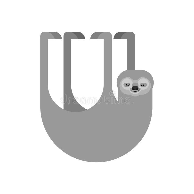 Изолированная лень мультфильм lazybones животный также вектор иллюстрации притяжки corel иллюстрация вектора