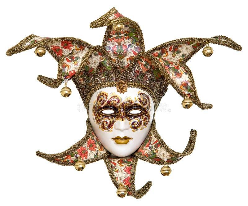изолированная маска шутника venetian стоковые изображения rf