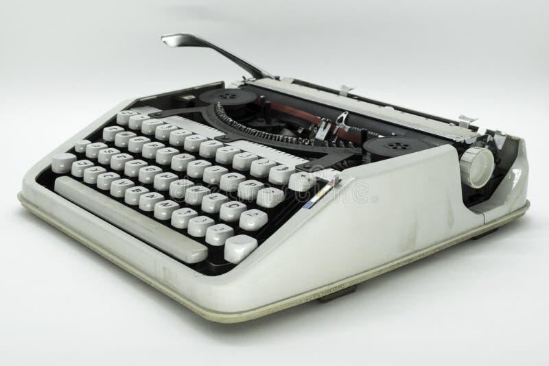Изолированная машина машинки старой школы стоковое изображение rf