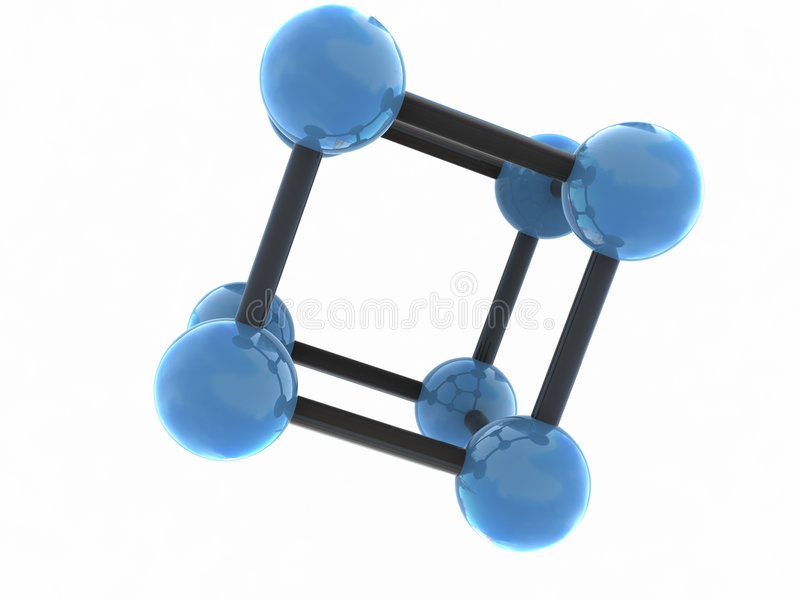 изолированная молекула иллюстрация штока
