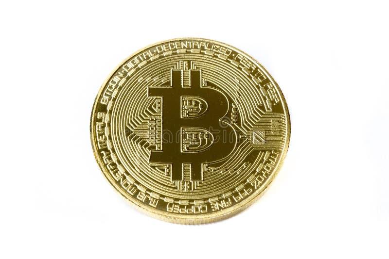 Изолированная монетка bitcoin стоковое изображение