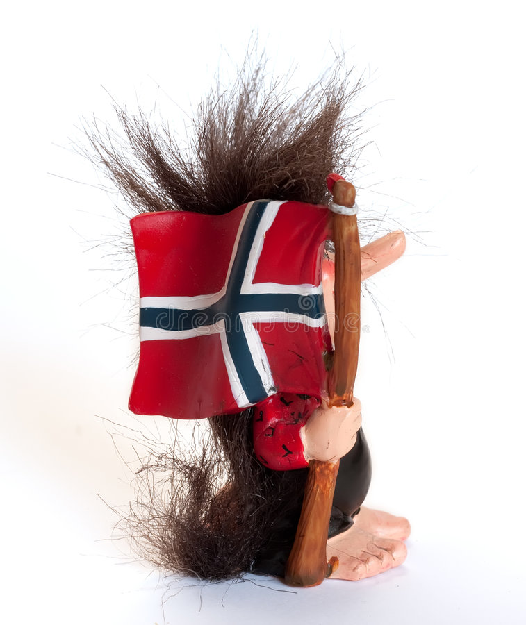 изолированная норвежская белизна troll стоковая фотография rf