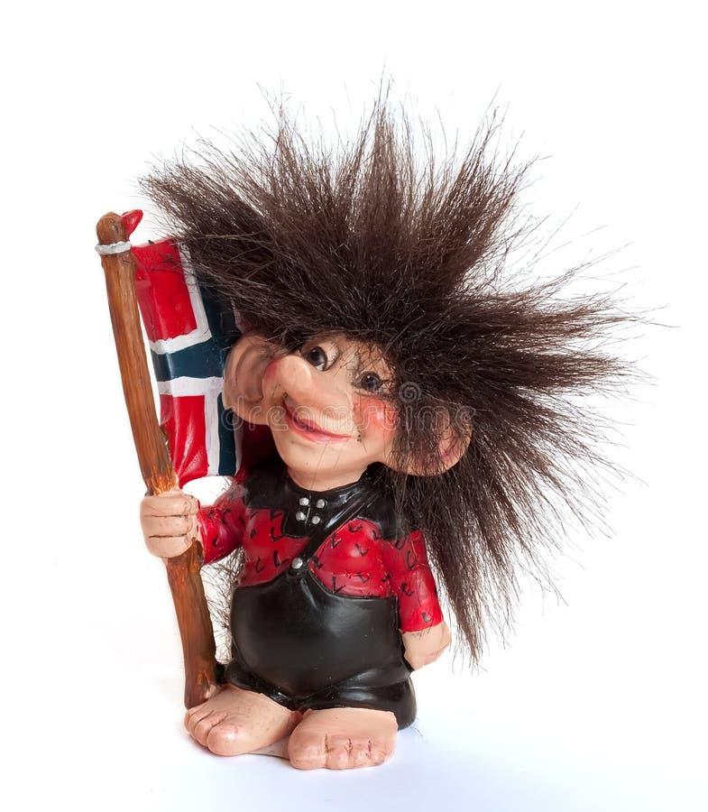 изолированная норвежская белизна troll стоковые изображения rf