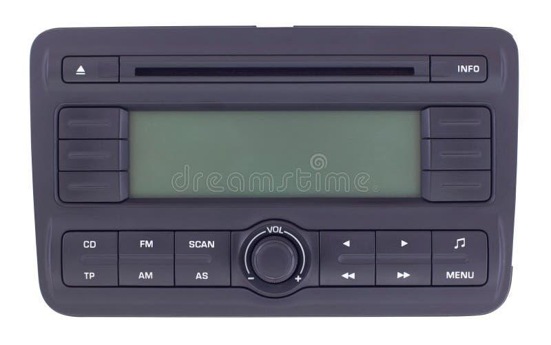 Изолированная панель автомобильного радиоприемника стоковая фотография