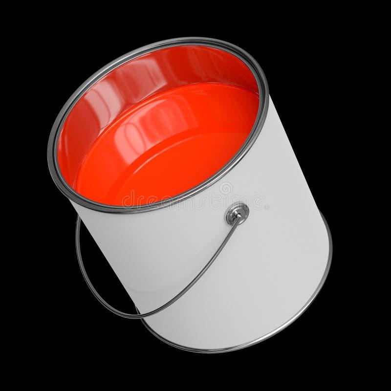 Изолированная плавая открытая краска может на черной предпосылке иллюстрация вектора
