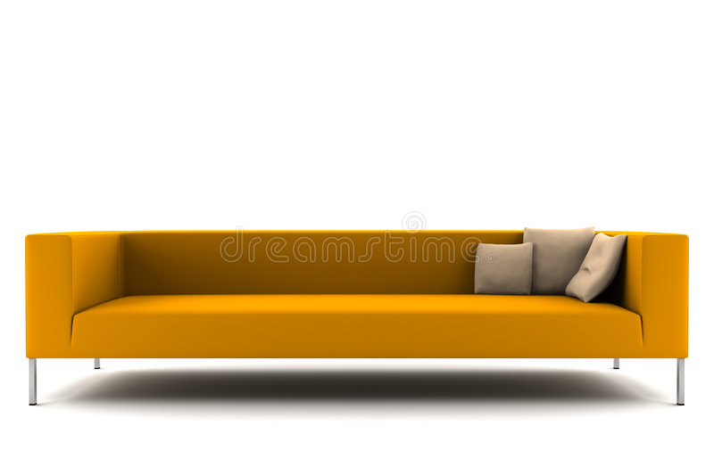 Download изолированная померанцовая белизна софы Иллюстрация штока - иллюстрации насчитывающей ново, софа: 6861632