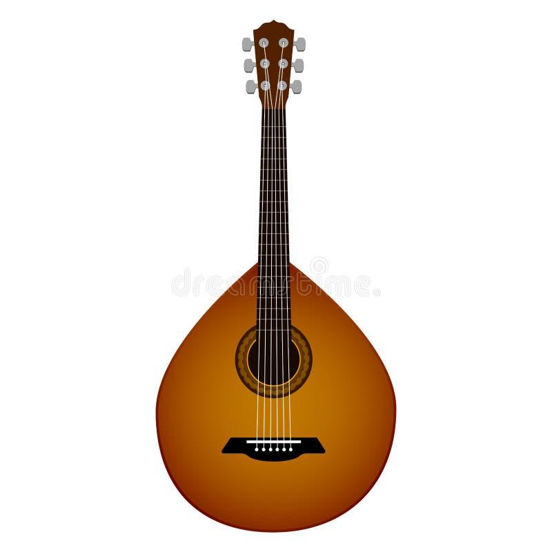 Изолированная португальская гитара саксофон части аппаратуры hornsection музыкальный иллюстрация штока