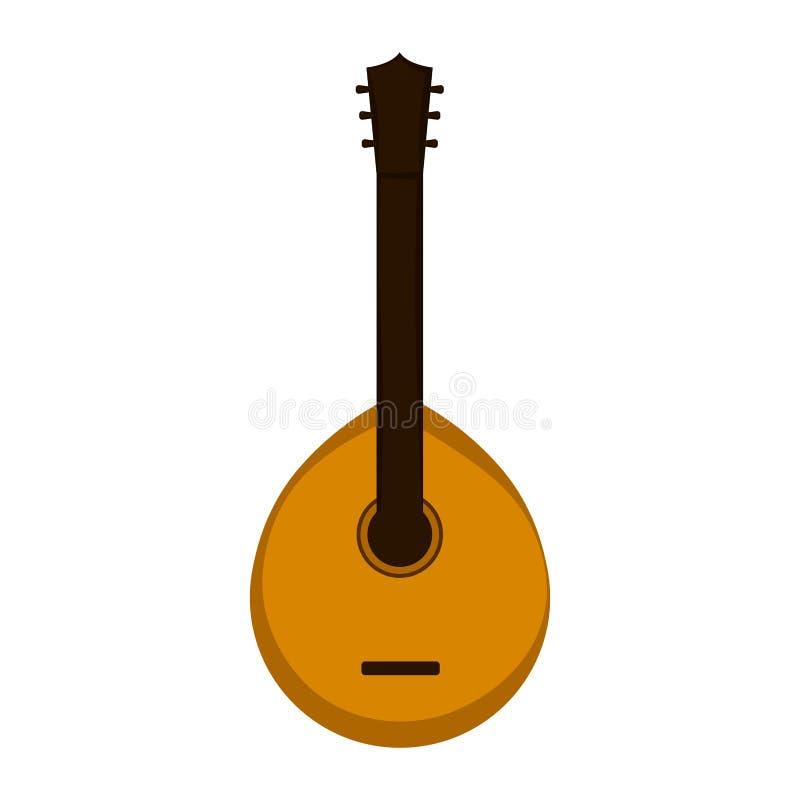 Изолированная португальская гитара иллюстрация штока