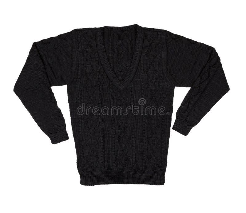 изолированная предпосылкой белизна свитера Мужчина связал свитер тепло стоковые изображения rf