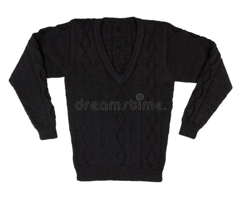изолированная предпосылкой белизна свитера Мужчина связал свитер тепло стоковые фото