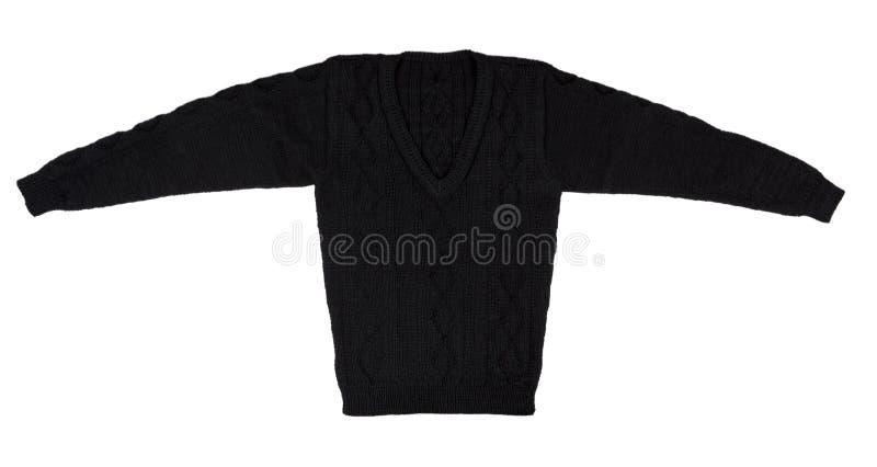 изолированная предпосылкой белизна свитера Мужчина связал свитер тепло стоковое изображение