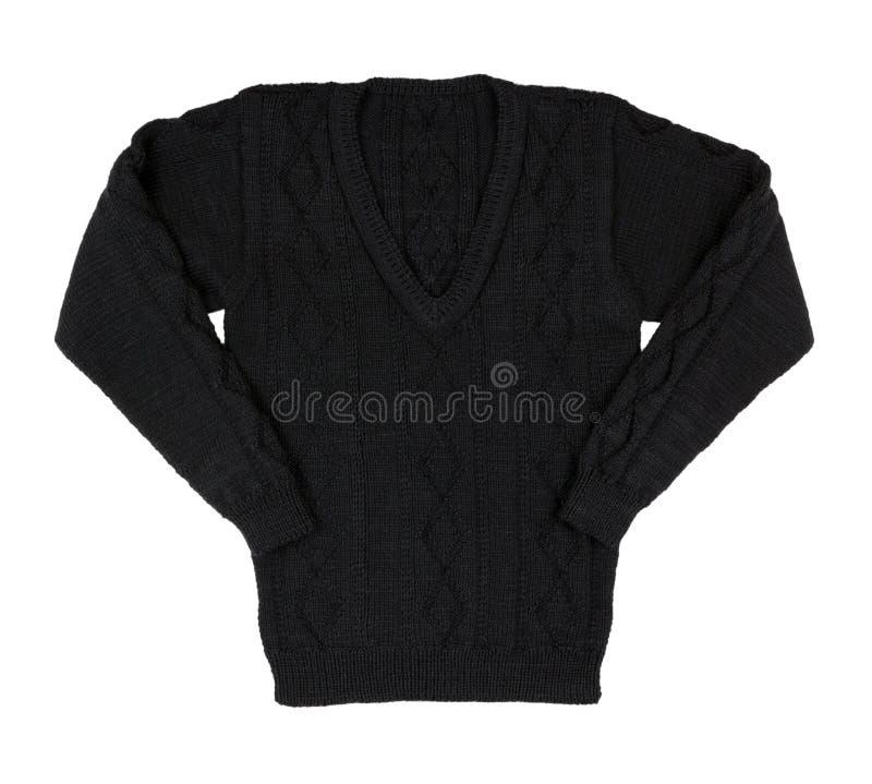 изолированная предпосылкой белизна свитера Мужчина связал свитер тепло стоковая фотография rf