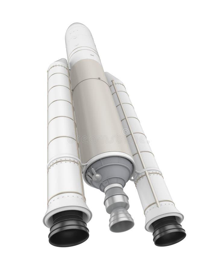 Изолированная ракета космоса бесплатная иллюстрация