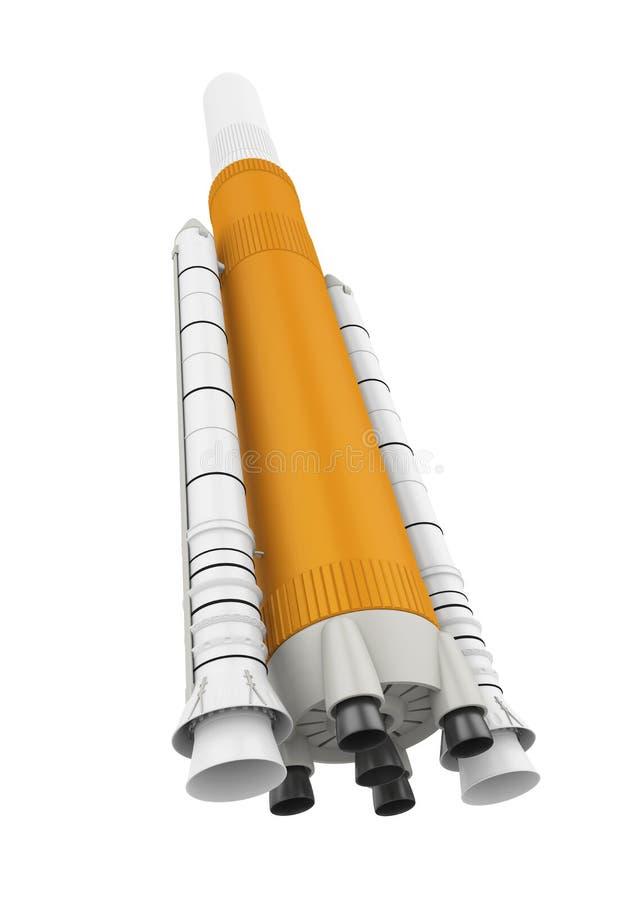 Изолированная ракета космоса иллюстрация вектора