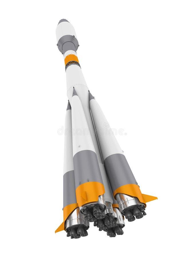 Изолированная ракета космоса иллюстрация штока