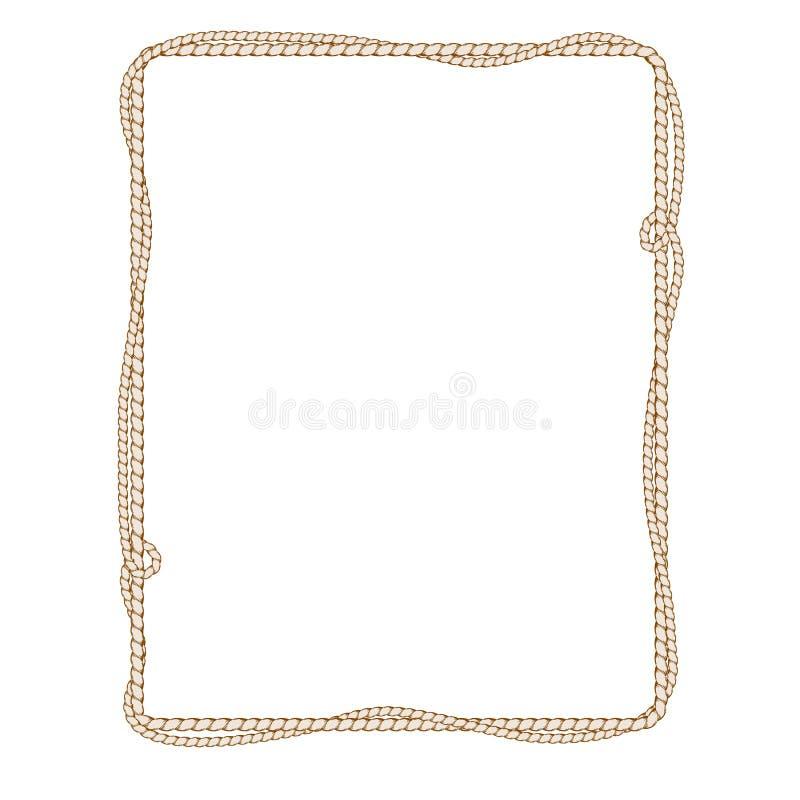 Изолированная рамка с веревочкой бесплатная иллюстрация